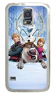 iCustomonline Frozen Skin Hard PC Transparent Case Cover Design for Samsung Galaxy S5