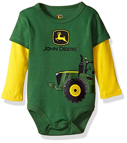 John Deere Baby Boys' Bodysuit, Green, 6-9 Months