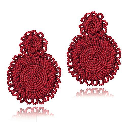 Statement Drop Dangle Earrings Bohemian Beaded Drop Earrings for Women Girl
