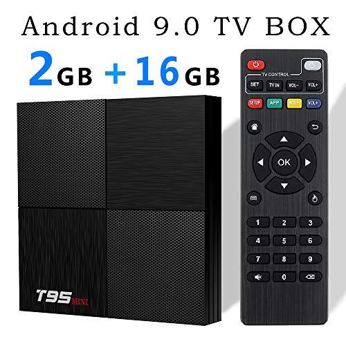 EVANPO Android 9.0 TV Box, Smart Box Android TV Player 2GB 16GB Quadcore cortex-A53 Media Box Supporting 6K Full HD/H…