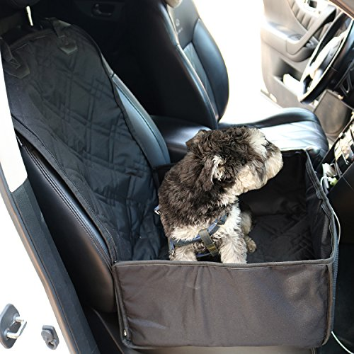 Paws Up Pet Seat Cover Scratch Proof Waterproof Nonslip Heavy Duty Dog Hammock Easy Clean Dog Car Seat Covers Pet Back Seat Covers for Car,Truck and SUV (Medium, Black)