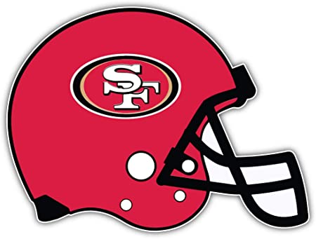 5/'/' longer side Set of 4 San Francisco 49ers Football Sticker Decals