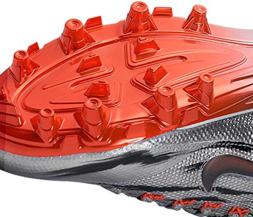 Nike Herren Alpha Pro 2 Fußballschuh Metallic Silver / Total Crimson-Schwarz-Weiß