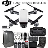 DJI Spark Portable Mini Drone Quadcopter Fly More Combo Hardshell Backpack Ultimate Bundle (Alpine White)