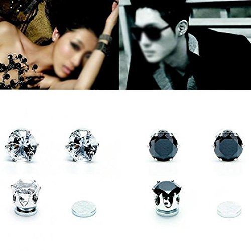 1 Pair of Magnet Earrings Popular Clip No Piercing Men's and Women's Popular Jewelry Party by AxiEr (Image #1)