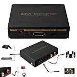 1080P HDMI to HDMI Optical SPDIF + RCA L/R Extractor Converter Audio Splitter