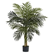 Nearly Natural 5357 Golden Cane Palm Tree, 4-Feet, Green