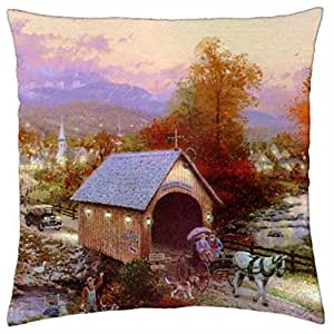 Old Covered Bridge - Throw Pillow Cover Case (18