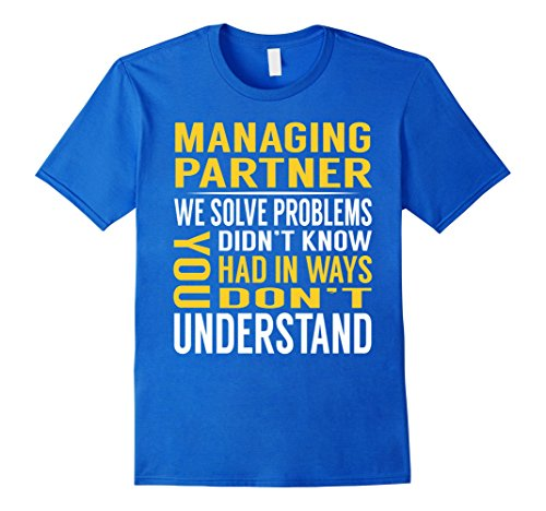 Partner Costume Ideas (Mens Managing Partner Solve Problems TShirt XL Royal Blue)