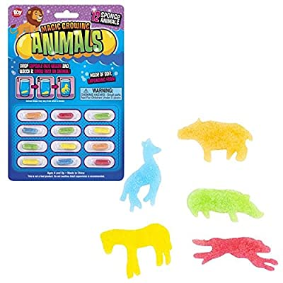 Rhode Island Novelty Magic Growing Animal Capsules, 6 Cards with 12 Capsules in Each: Toys & Games