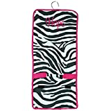 Personalized Hot Pink Zebra with Pink Lining Hanging Cosmetic Makeup Bags