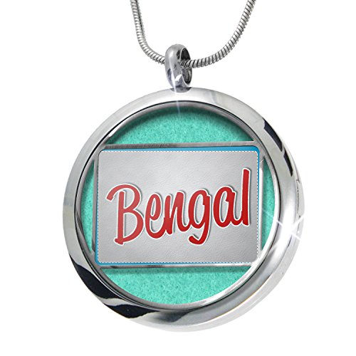 NEONBLOND Bengal, Cat Breed United States Aromatherapy Essential Oil Diffuser Necklace Locket Pendant Jewelry Set