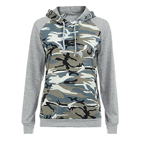 Damen Camouflage Pullover ,Lonshell Übergröße Hoodie Pulli