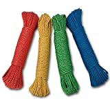 LONG 100FT NYLON THICK ROPE GARDEN CLOTHES LINE GARAGE CAMPING TOW
