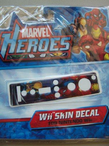 Wii Skin Decal Marvel heroes Wolverine Spiderman Iron Man