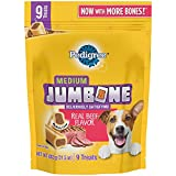 Cheap Pedigree Jumbone Medium Dog Treats, Real Beef Flavor, 26.1 Oz. Pack (9 Treats), Makes A Great Holiday Dog Stocking Stuffer