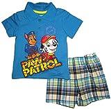 Paw Patrol Boys Infant 2 Piece Polo Shirt & Plaid Short Set (12M)
