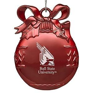 Amazon.com: Ball State University - Pewter Christmas Tree Ornament ...