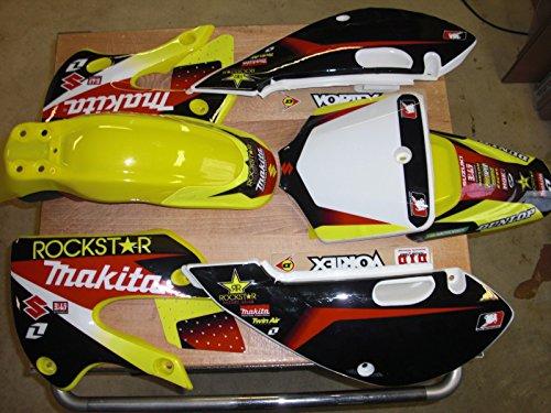 Pit bike kLx 110 02-09 kx 65 00-13 Rm 65 02-05 Graphics and plastics Rockstar Energy (One Industries Graphics Kits)