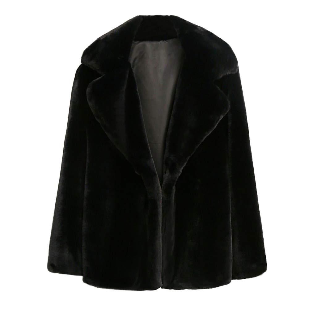 Seaintheson Women's Coats OUTERWEAR レディース B07HRFNYLS XXX-Large|ブラック ブラック XXX-Large