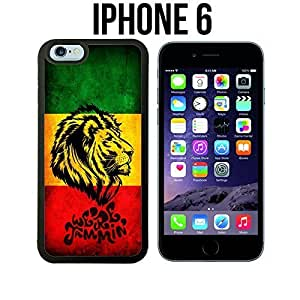 Cool Singer Rasta Lion Custom made Case/Cover/Skin for iPhone 6 - Black - Rubber Case (Ships from CA) by icecream design
