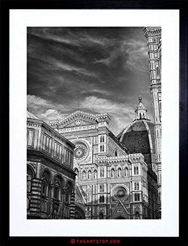 LORENCE DUOMO CATHEDRAL BW ITALY FRAMED PRINT F97X5219 (Florence Framed)