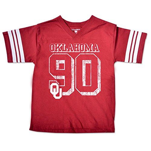 NCAA Oklahoma Sooners Youth Football Tee, Size 8-10 /Small, Cardinal