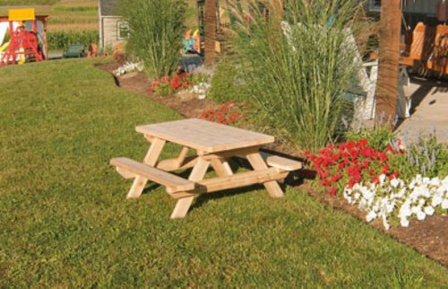 Kids Children's Cedar Picnic Table - Amish Made USA