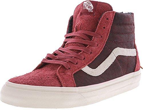 Vans Sk8-salut Réédition Zip Dx Varsity Rouge Hommes Taille 8 Cuir Et Daim Chaussures De Skate