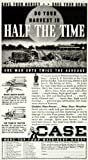 1936 Ad Case Tractor Model HT Super Binder Farm Equipment Machinery Half Time - Original Print Ad