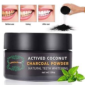Polvo blanqueador de dientes,Blanqueador Dental de Carbón Activado,Blanqueamiento de dientes,Teeth Whitening Powder…