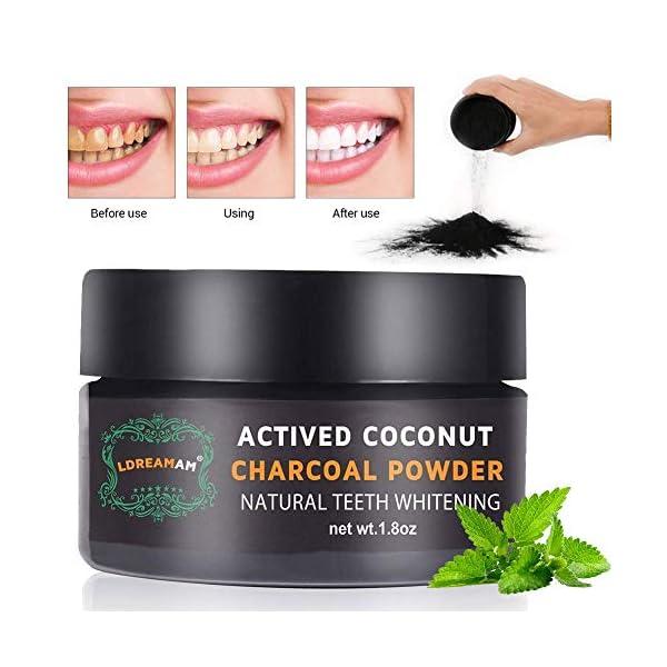 Polvo blanqueador de dientes,Blanqueador Dental de Carbón Activado,Blanqueamiento de dientes,Teeth Whitening Powder… 2
