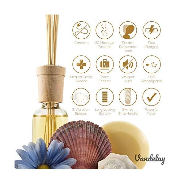 Vandelay-Magic-Mate-Handheld-Cordless-Personal-Body-Massager-for-Men-Women-Waterproof-Portable-Vibrate-Wand-20-pattern-x-8-speeds-Long-Battery-Powerful-Vibrations-Flexible-Neck