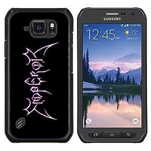 Caucho caso de Shell duro de la cubierta de accesorios de protección BY RAYDREAMMM - Samsung Galaxy S6Active Active G890A - Rey