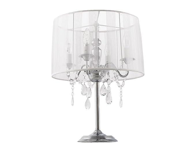 Abat jour lampada da tavolo gocce pendenti bianco: amazon.it