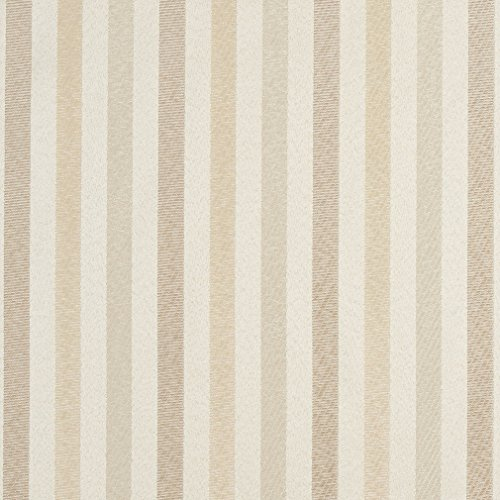 F569 Ivory Striped Damask Upholstery And Drapery Grade Fabric By The ()