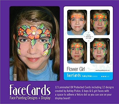 face-painting-cards-classic-collection-12-step-by-step-picture-demos-in-4x6-card-format-designed-by-