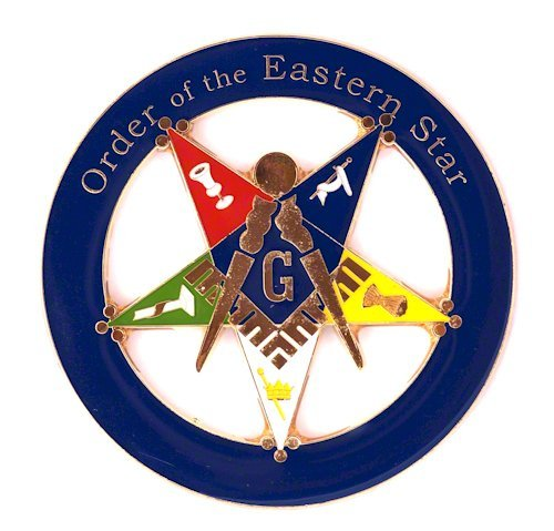 Masonic Order of the Eastern Star Patron Round Blue Car Auto Emblem - 3