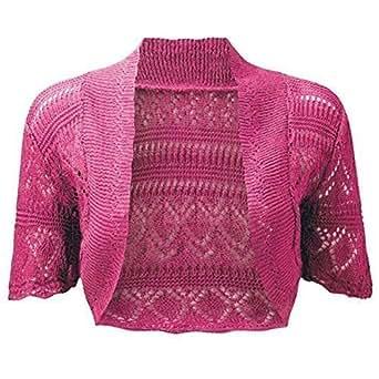 RageIT - Bolero de hombro para mujer chaqueta de ganchillo de punto de manga corta