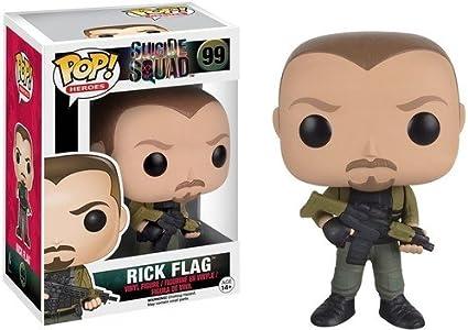 POP! Vinilo - Suicide Squad: Rick Flag: Funko Pop! Movies:: Amazon.es: Juguetes y juegos