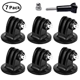 HotRoyal Tripod Mount Adapter for GoPro Hero 6 - 5 - 4 - 3+ - 3 - 2 - 1 Cameras (7 Packs)