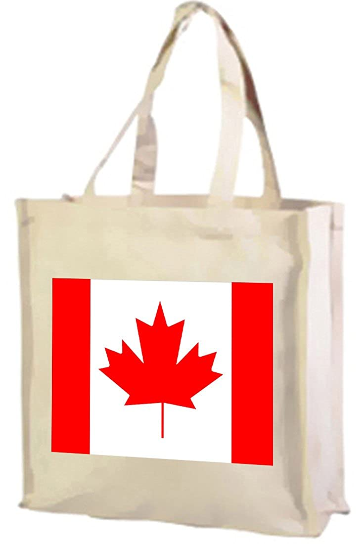 Canadian Flag, Cotton tote shopping bag