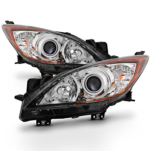 ACANII - For 2010 2011 2012 2013 Mazda 3 Mazda3 Halogen Headlights Headlamps 10-13 Driver + Passenger Side ()