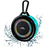 SKYWING Soundace S6 IPX7 Waterproof Shower Speaker 5W Bass+ Bluetooth Speaker with Suction Cup Hook Lanyard RGB Light 15h Pla