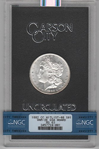 1882 CC Morgan Dollar MS-63 NGC