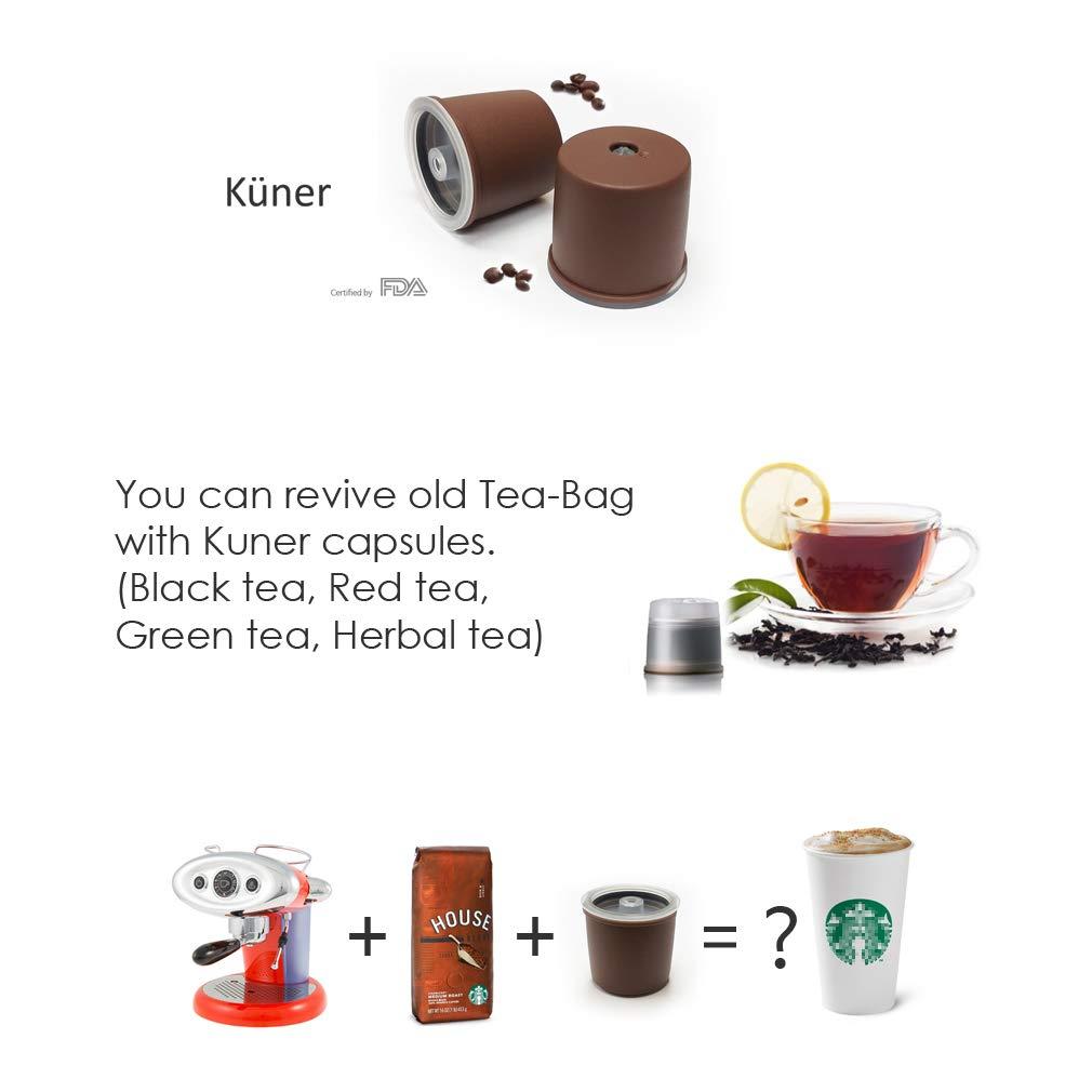 Kuner illy - Cápsulas recargables compatibles con la máquina de ...