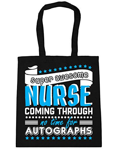 Gym Time litres Shopping Beach Autographs For 42cm Awesome No Bag Nurse Coming Tote 10 Super HippoWarehouse Black x38cm Through PqgYw