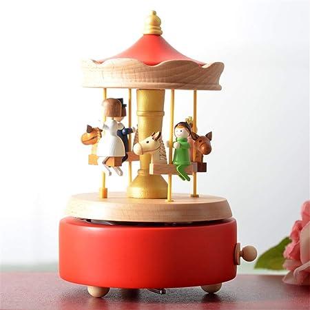DRHYSFSA-Toy Cajas de Música Cajas Musicales Regalos Madera Caja de música for Navidad Cumpleaños Día de San Valentín Caja de Regalo Musical para Navidad (Color : B, tamaño : 11X11X16CM): Amazon.es: Hogar