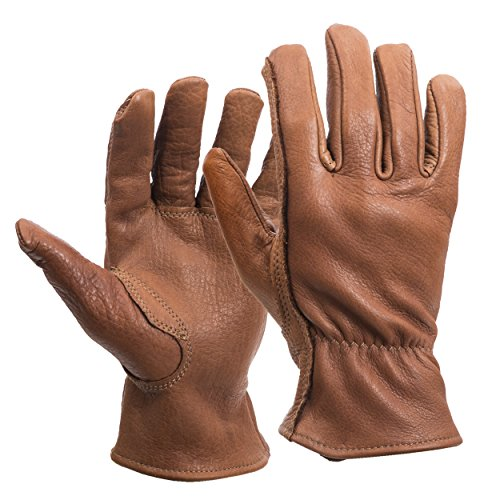 American Made Buffalo Leather Work Gloves , 650, Size: Large ()