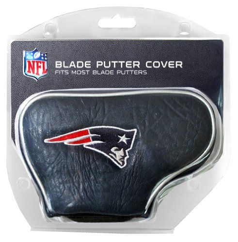 Team Golf NFL New England Patriots Golf Club Blade Putter Headcover, Fits Most Blade Putters, Scotty Cameron, Taylormade, Odyssey, Titleist, Ping, Callaway